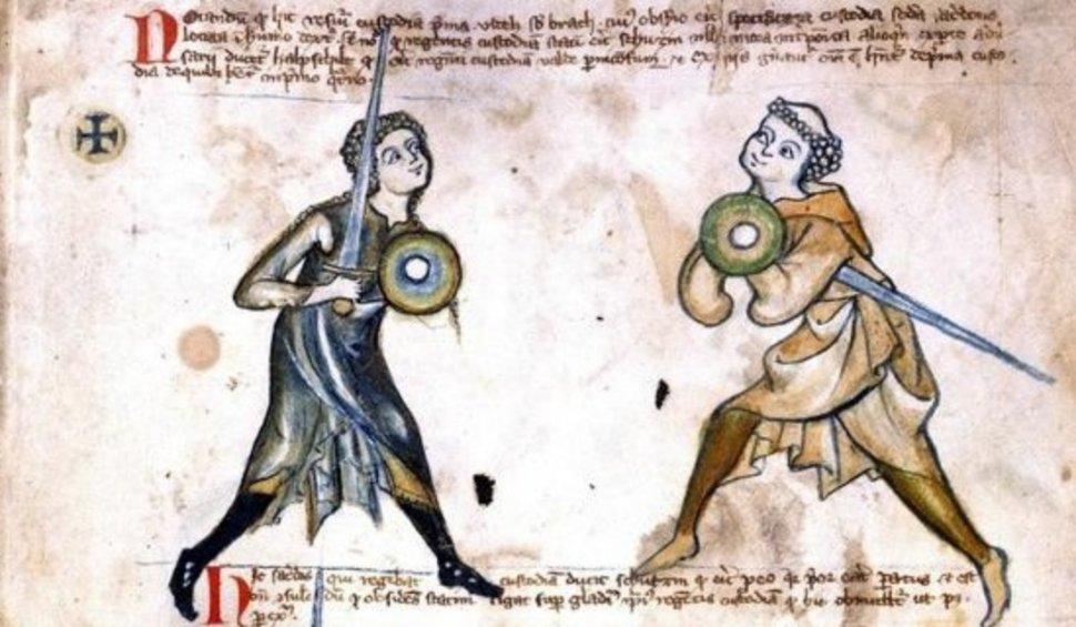 Walpurgis, aluna do crego ou monge Lutger, no manuscrito que leva o seu nome.